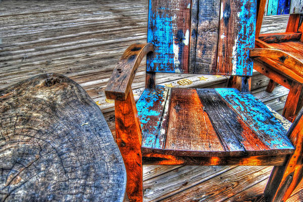 Digital Art - Painted Chairs 2 by Michael Thomas
