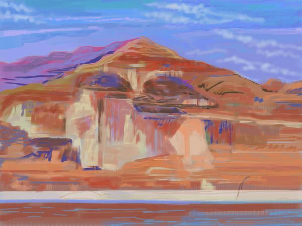 Eroded Wall Art - Photograph - Painted Cliffs, Lake Powell Computer Art by Howard Ganz