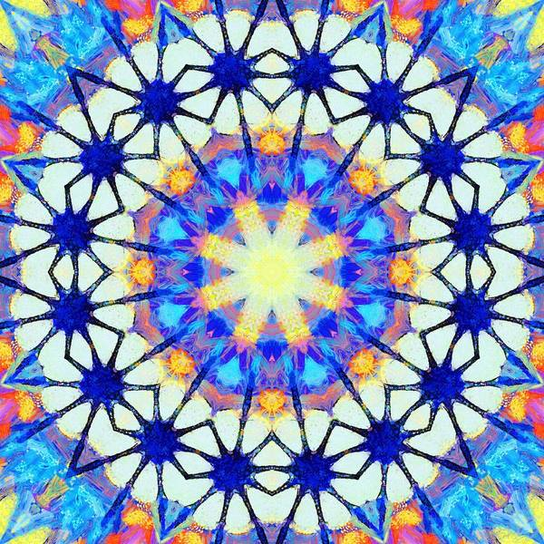 Painting - Painted Cymatics 128.33hz by Derek Gedney