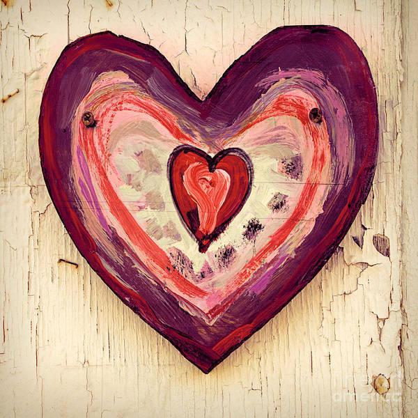 Wall Art - Photograph - Painted Heart by Jill Battaglia