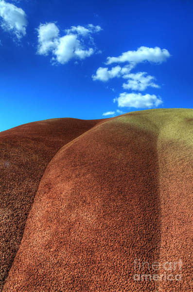 Painted Desert Photograph - Painted Hills Blue Sky 2 by Bob Christopher