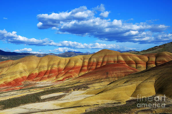 Painted Desert Photograph - Painted Hills Blue Sky 3 by Bob Christopher
