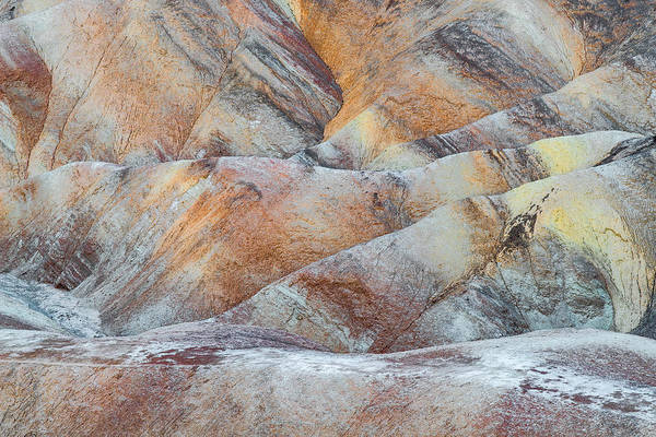 Valleys Photograph - Painted Hills In Death Valley by Larry Marshall