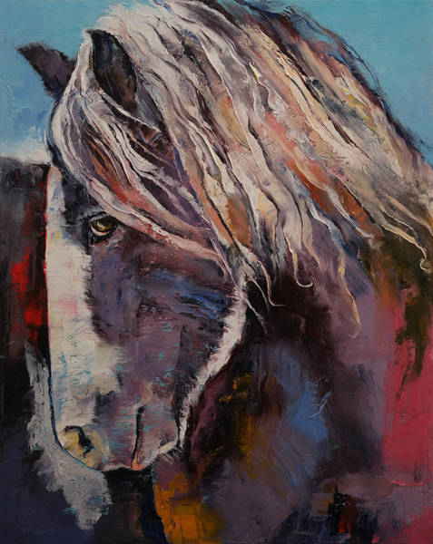 Oil Paints Painting - Highland Pony by Michael Creese