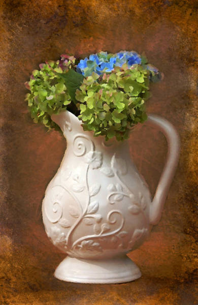 Photograph - Painted Hydrangeas by Trina  Ansel