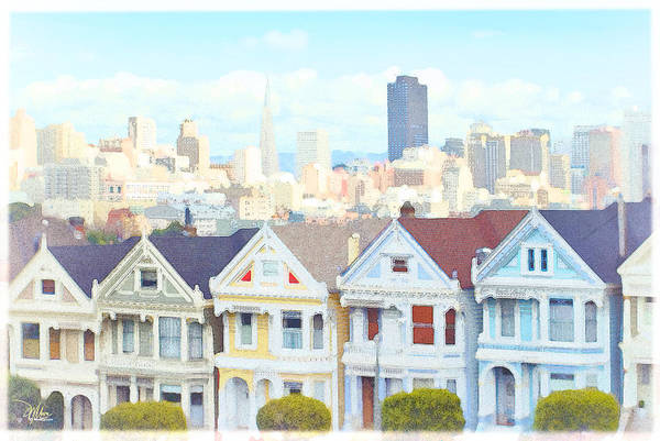 Painting - Painted Ladies Alamo Square San Francisco by Douglas MooreZart