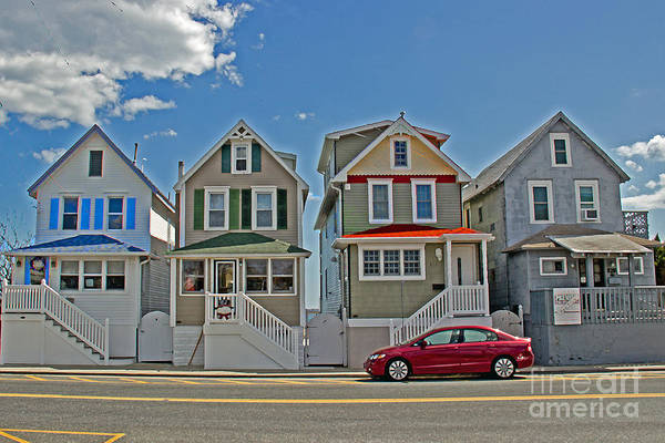 Painted Ladies Of Somers Point Art Print