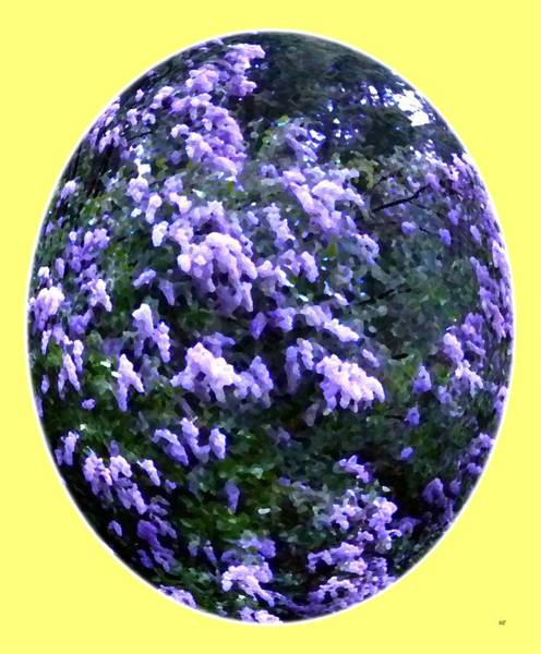 Oval Digital Art - Painted Lilacs by Will Borden