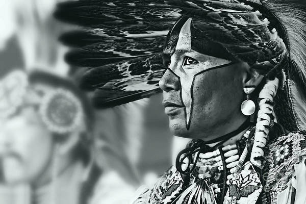Wall Art - Photograph - Painted Native In Silver Screen Tone by Scarlett Images Photography