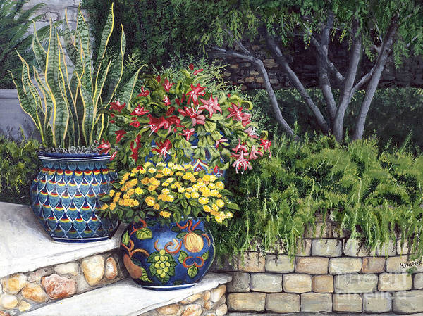 Painting - Painted Pots by Mary Palmer