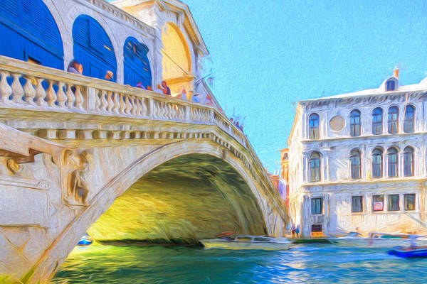 Photograph - Painted Effect - Rialto Bridge by Susan Leonard