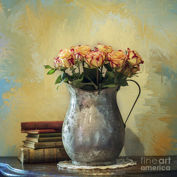 Photograph - Painted Roses by Terry Rowe