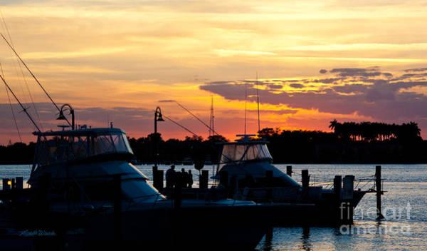 Boynton Photograph - Painted Sky In Boynton Beach Florida by Michelle Constantine
