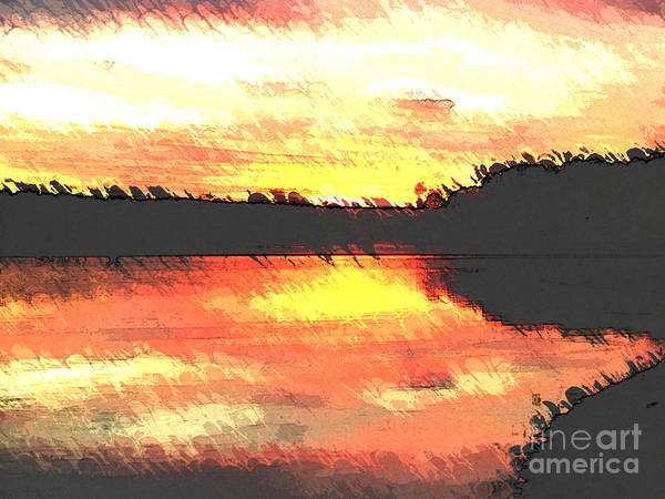 Lake Juliette Photograph - Painted Sunset by Donna Brown