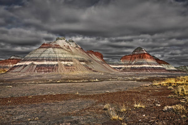 Painted Desert Photograph - Painted Teepees by Medicine Tree Studios