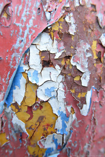 Photograph - Painted Texture by Teresa Blanton