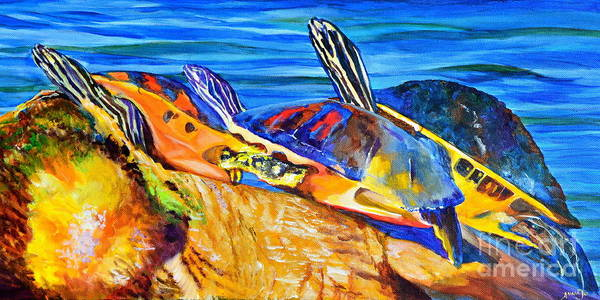 Wall Art - Painting - Painted Turtles by AnnaJo Vahle