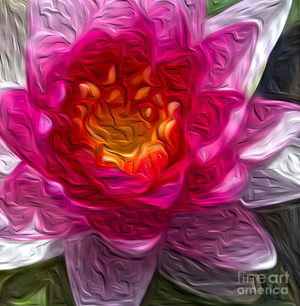 Photograph - Painted Water Lily by Mae Wertz