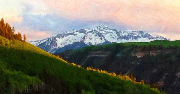 Digital Art - Painted Wilson Sunset by Rick Wicker