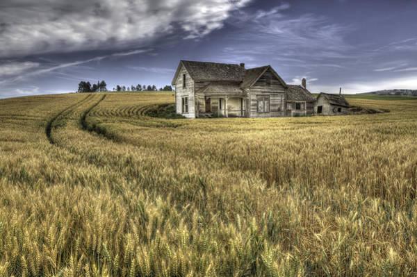 Wall Art - Photograph - Painterly Farmhouse by Latah Trail Foundation