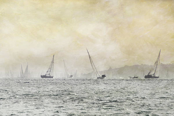 Yarmouth Photograph - Painterly - Round Island Race by S0ulsurfing - Jason Swain
