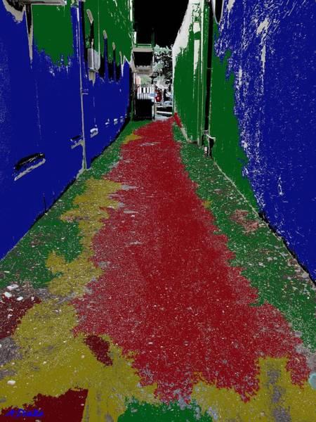 Digital Art - Painters Alley by Alec Drake