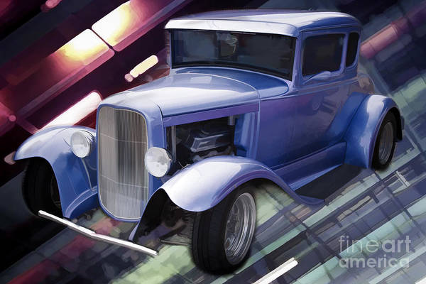 Painting - 1931 Ford Model A Street Rod Classic Car Automobile Antique Vintage Automobile Photographs  3220.02 by M K Miller