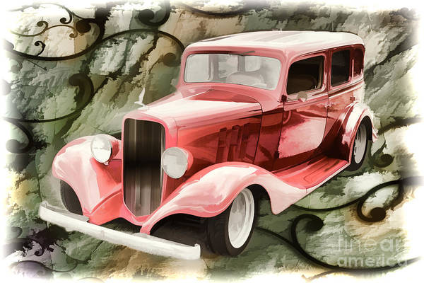 Painting - Painting 1933 Chevrolet Chevy Sedan Classic Car In Color  3161.0 by M K Miller