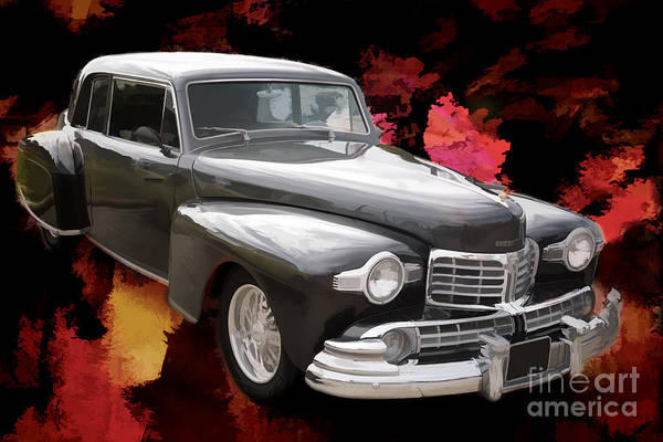 Painting - Painting 1948 Lincoln Continental Car Or Automobile In Color  31 by M K Miller