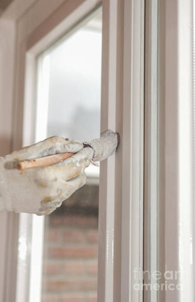 Painting A Window With White Art Print