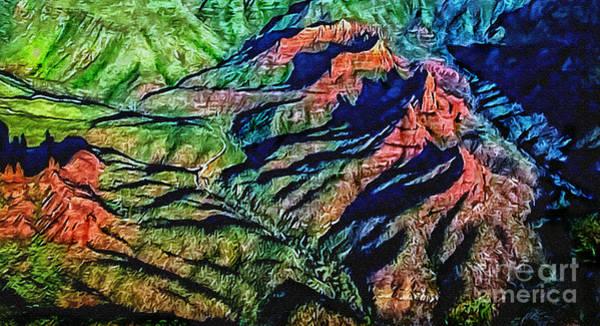 Painting - Painting Aerial View Sedona Arizona by Bob and Nadine Johnston