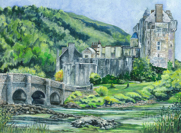 Eilean Donan Castle Painting -  Eilean Donan Medieval Castle Scotland by Carol Wisniewski