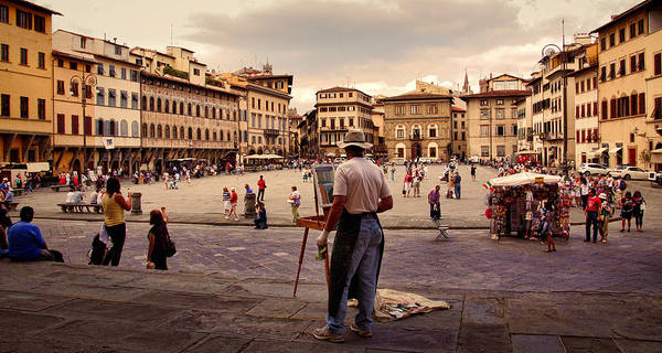 Croce Digital Art - Painting Florence by Martin Fry