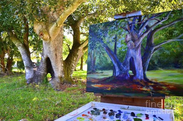 Wall Art - Painting - Painting Hickory Hole by AnnaJo Vahle