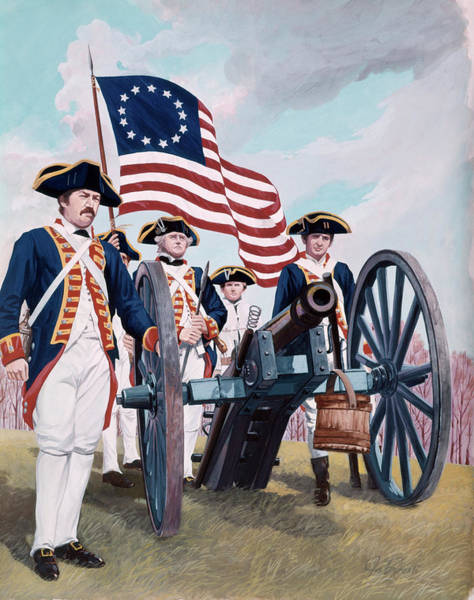Up North Painting - Painting Illustration Of Artillery by Vintage Images