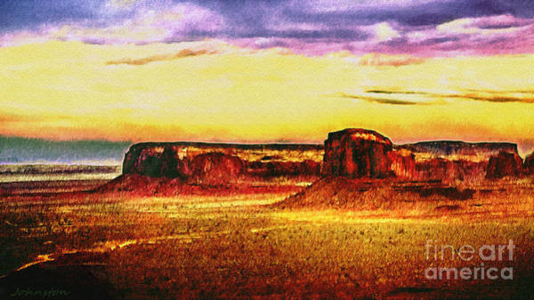 Painting - Painting  Monument  Valley by Bob and Nadine Johnston