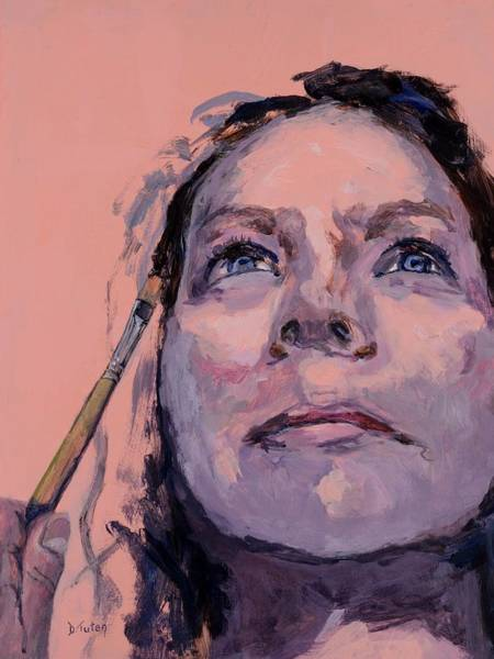 Selfportrait Painting - Painting My Identity by Donna Tuten