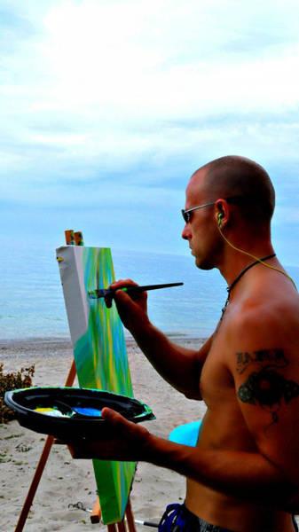 Photograph - Painting Neotex by Cyryn Fyrcyd