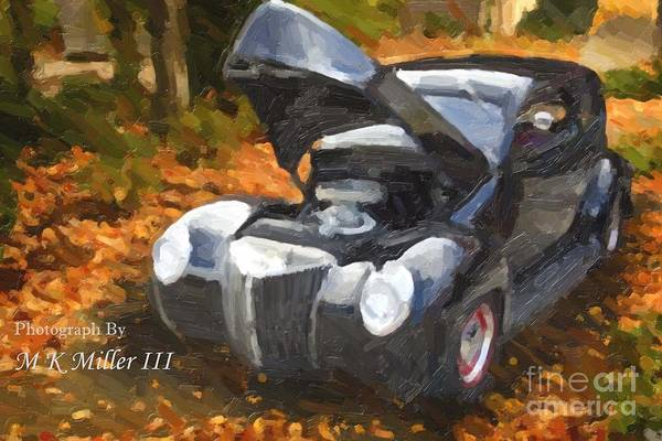 Painting - Painting Of 1939 Ford Sedan Antique Classic Car 3418.02 by M K Miller
