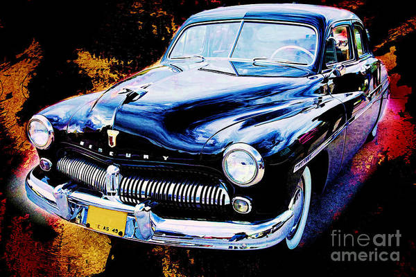 Painting - Painting Of A 1949 Mercury Classic Car In Color 3193.02 by M K Miller