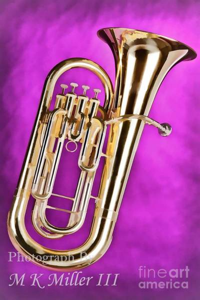 Painting - Painting Of A Tuba Brass Music Instrument In Color 3279.02 by M K Miller