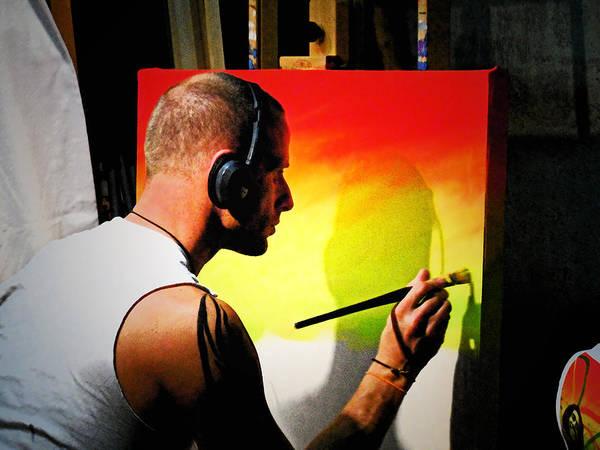 Painting - Painting Slyk Aka One Love by Cyryn Fyrcyd