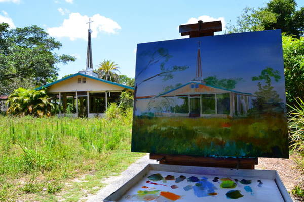 Photograph - Painting The Chapel Of Healing by AnnaJo Vahle