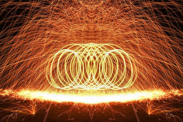 Steel Wool Photograph - Painting The Night With Fire by Dan Sproul