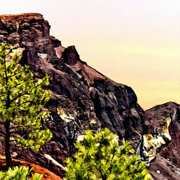 Flagstaff Painting - Painting Volcanic Mountain Flagstaff Arizona by Bob and Nadine Johnston