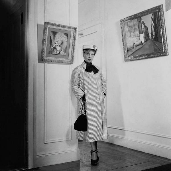 1951 Photograph - Paintings By Anita Loos by Cecil Beaton