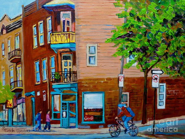Painting - Paintings Of Montreal Streets Wilenskys Lunch Counter by Carole Spandau