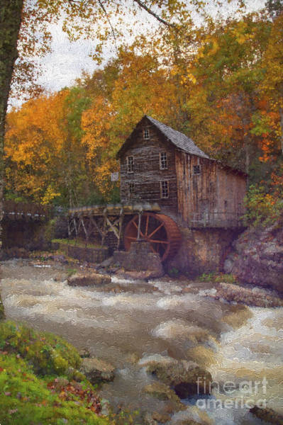 Photograph - Paintography Of Grist Mill On Glade Creek by Dan Friend