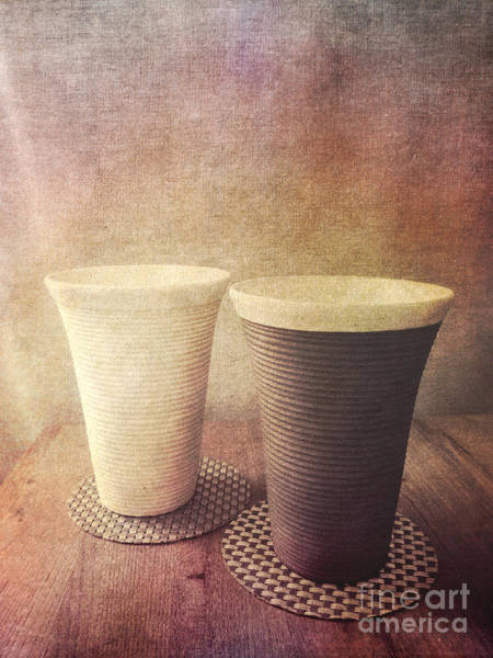 Photograph - Pair Of Earthenware Ceramic Pottery Cups by Beverly Claire Kaiya