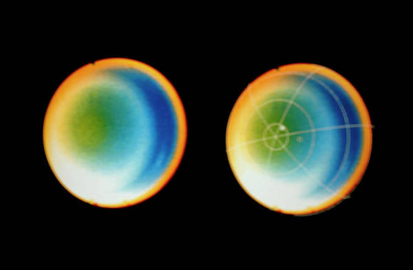 Voyager Photograph - Pair Of Vayager 2 Images Of Uranus by Nasa/science Photo Library